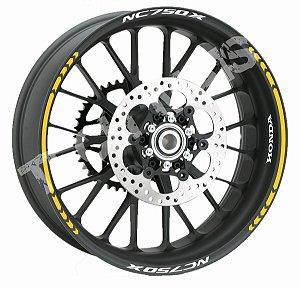 Fita de Roda Friso de Roda Refletivo Honda NC750X Direcional