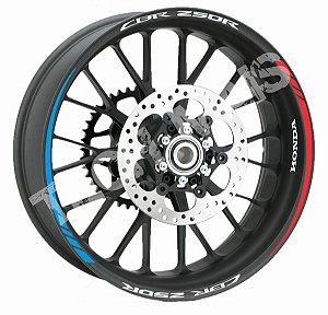 Fita de Roda Friso de Roda Refletivo Honda CBR250R Orbital
