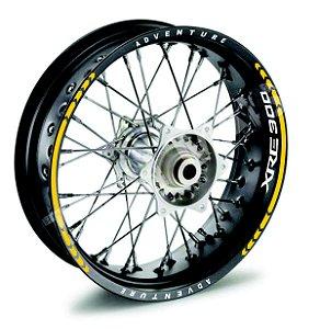 Fita de Roda Friso de Roda refletivos XRE 300 XRE300 Adventure com logo borda interna modelo Direcional frete grátis todo o Brasil