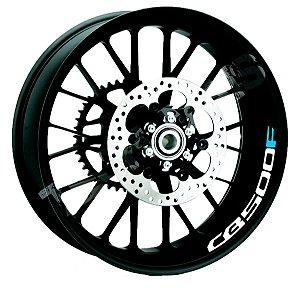 Adesivo refletivo marcas para Borda interna do aro Honda CB500F