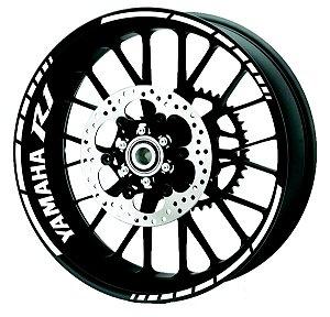 Fita de Roda Friso de Roda Refletivo Yamaha R1  Borda Abstrato Triplo