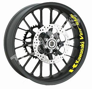 Adesivo refletivo marcas para Borda interna do aro Kawasaki Versys