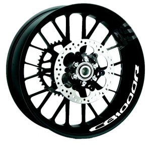 Adesivo refletivo marcas para Borda interna do aro Honda CB1000R