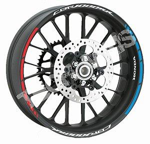 Fita de Roda Friso de Roda Refletivo Honda CBR1000RR Abstrato