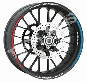 Fita de Roda Friso de Roda Refletivo Honda CBR650F Direcional