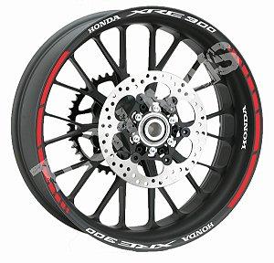 Fita de Roda Friso de Roda refletivos XRE 300 XRE300 modelo frete grátis todo o Brasil