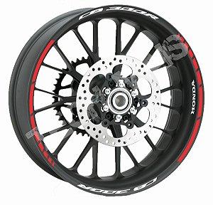 Fita de Roda Friso de Roda Refletivo Honda CB300R