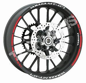 Fita de Roda Friso de Roda Refletivo Yamaha MT-07 ; 09 e 01