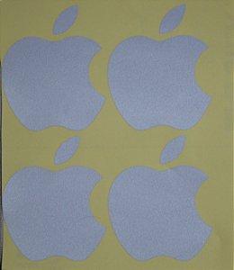 04 Adesivos Refletivos Apple Maçã IPHONE 5x6cm cada