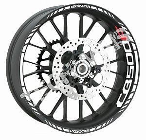 Fita de Roda Friso de Roda Refletivo Honda CB500F Aspas 2 Borda