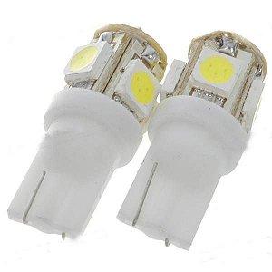 Par Pingo t10 super branco com 5 leds (5050) - (pacote 2 unidades)
