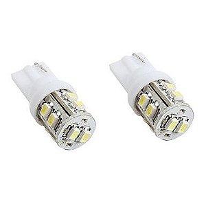 Par Pingo t10 super branco com 10 leds  - (pacote 2 unidades)