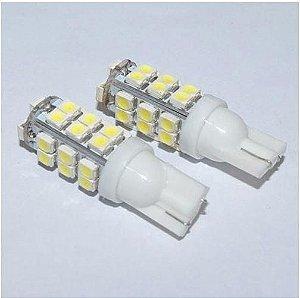 Par Pingo t10 super branco com 28 leds  - (pacote 2 unidades)