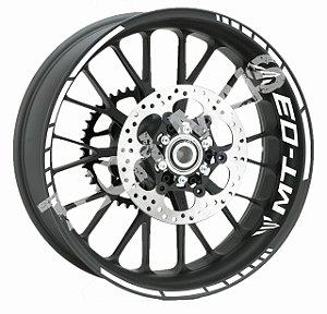 Fita de Roda Friso de Roda Refletivo Yamaha MT-03 Abstrato Triplo Adesivo de Roda