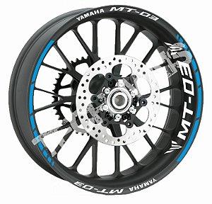 Fita de Roda Friso de Roda Refletivo Yamaha MT-03 Abstrato Adesivo de Roda