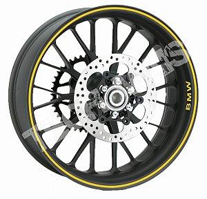Fita de Roda Adesivo de roda Friso de Roda Refletivo BMW Liso 5mm
