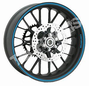 Fita de Roda Adesivo de roda Friso de Roda Refletivo SUZUKI Liso 5mm