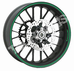 Fita de Roda Adesivo de roda Friso de Roda Refletivo KAWASAKI Liso 5mm