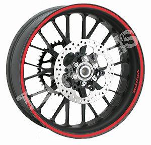 Fita de Roda Adesivo de roda Friso de Roda Refletivo HONDA Liso 10mm