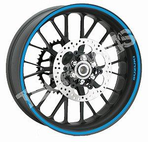 Fita de Roda Adesivo de roda Friso de Roda Refletivo SUZUKI Liso 10mm