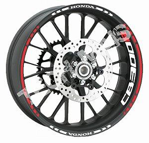 Adesivo de Roda Friso de Roda Refletivo Honda CB300R Direcional + Borda  CB 300 R