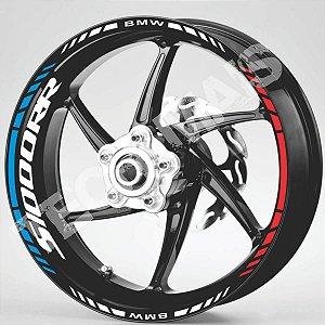 Fita Refletiva Adesivo de Roda Friso de Roda Refletivo BMW S1000RR Aspas Borda  S 1000 RR