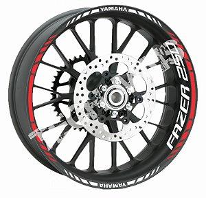 Friso de Roda Refletivo para motos Yamaha FAZER 250 Aspas + Adesivo de Roda