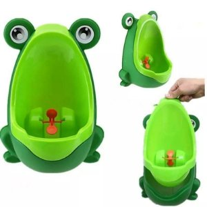 Mictório Sanitário Infantil Xixi Sapinho Verde Ventosas Desfralde