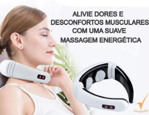 Massageador Pescoço Coluna Elétrico Portátil Cervical Tens