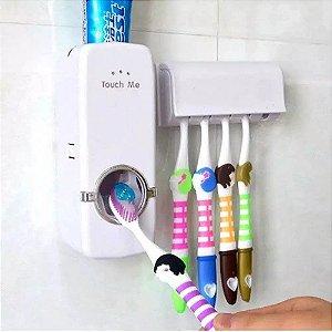 Suporte para Escova Dispenser de Pasta de Dente Automático