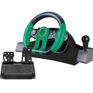 Volante Racer Multilaser Xbox One/PC com Marcha Acoplada - JS077