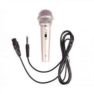 Microfone Com Fio Lelong Le-701 3 Metros