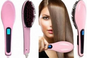 Escova Mágica Alisadora Fast Hair Straightener Hqt 906