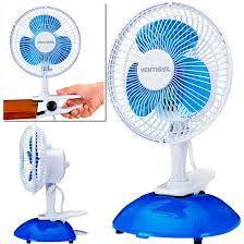 Ventilador Mini 20cm 127V (110V) Branco e Azul Mini Ventisol