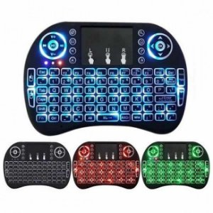 Mini Teclado Sem Fio TouchPad Universal Iluminação LED