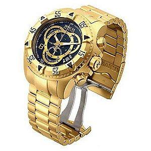 Relógio Ex0333 Invicta 80624 Excursion Dourado Preto C/caixa Transporte