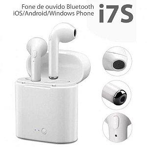 Fone De Ouvido Sem Fio Bluetooth I7s Tws Plus Celular Smart