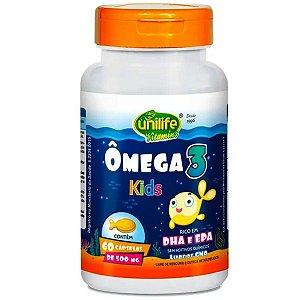 Ômega 3 Kids Unilife 60 C 500 Mg Rico Em Dha Epa P/ Crianças
