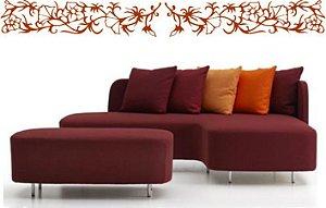 Adesivos Decoração Arabescos Florais Gesso Arquiteto