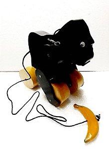 Brinquedo de Madeira Gorila de Puxar