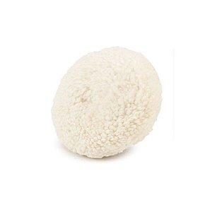 Boina De Lã Branca Macia 5¨ Dupla Face - Wimpel
