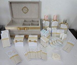 2 Kits Toalete Linho - Feminino E Masculino - Completo!