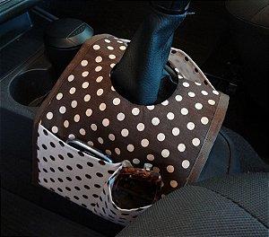 Lixeira para carro com bolso - Bilateral