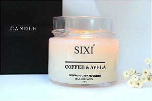 VELA AROMÁTICA SIXI COFFEE & AVELÃ 150G