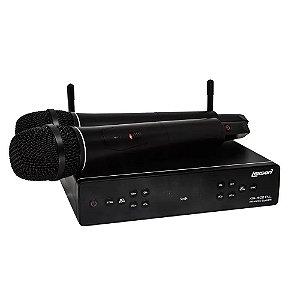 Microfone Lexsen UHF 2 canais de frequencia fixa - XSL 502