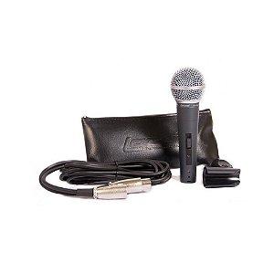 Microfone Lexsen cardioide Cabo 3m c/Cachimbo - LM-58