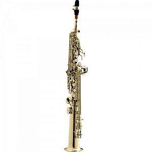 Saxofone HARMONICS Soprano Reto Bb HST410L Laqueado