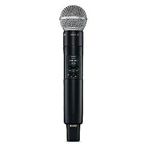 Microfone transmissor de mao com capsula SM58 - SLXD2/SM58 - Shure