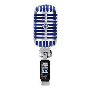 Microfone dinamico supercardioide deluxe com fio para voz principal e backing vocal - SUPER 55 - Shure