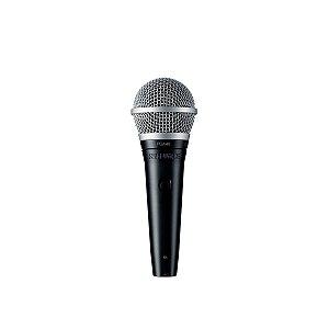 Microfone de mao dinamico cardioide para vocais - PGA48-LC - Shure